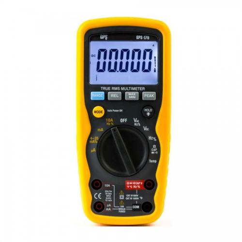 مولتی متر پرتابل چهار ونیم دیجیت مدل GPS-179  دارای IP67