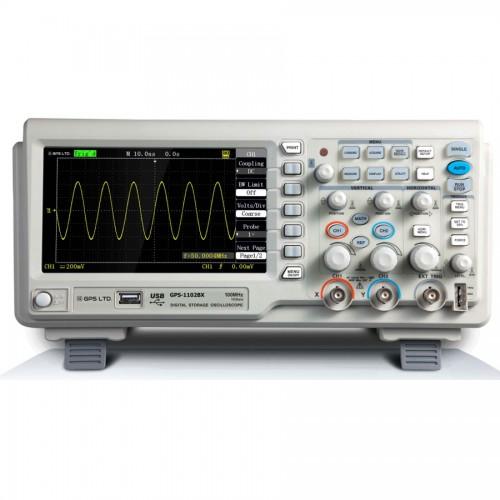 اسيلوسكوپ ديجيتال حافظه دار روميزي مدل  GPS-1102BX دو کانال 110MHz